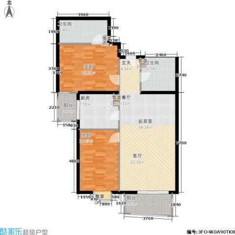 景泰嘉园2室0厅2卫1厨106.00㎡户型图