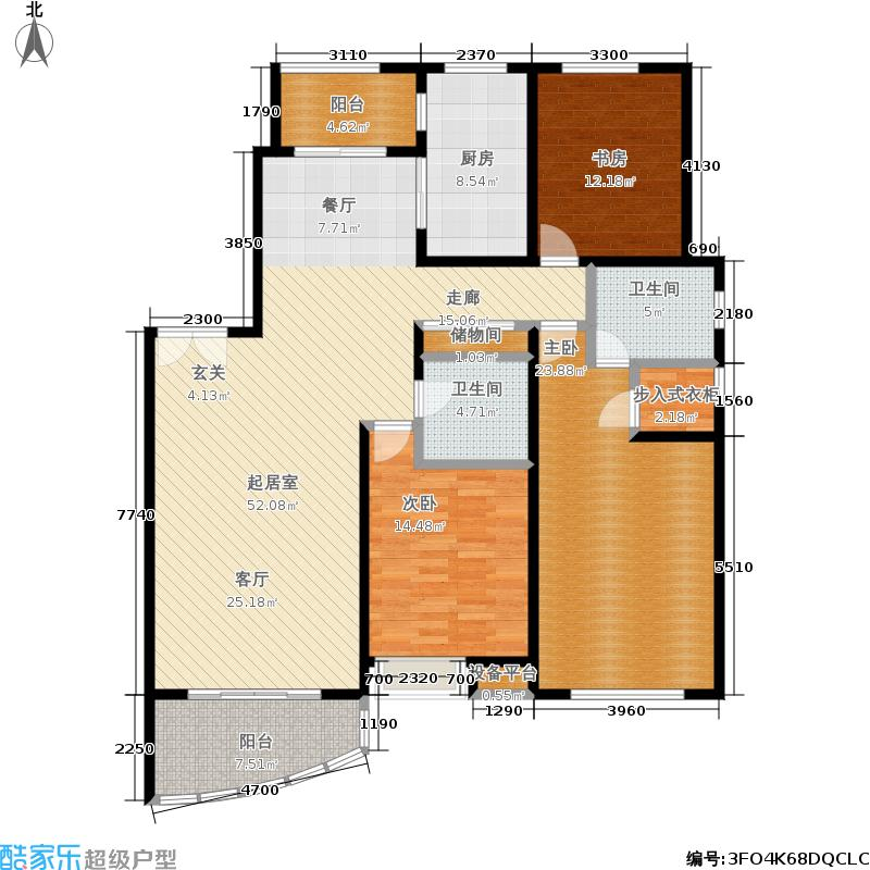 友力大厦160.84㎡房型: 三房; 面积段: 160.84 -162.37 平方米; 户型