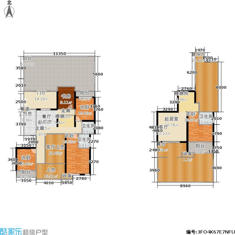 首创鸿恩国际生活区172.39㎡德尔菲谷洋房组团8号楼1单元1-1 五室两厅三卫 套内面积172.39平米户型5室2厅3卫