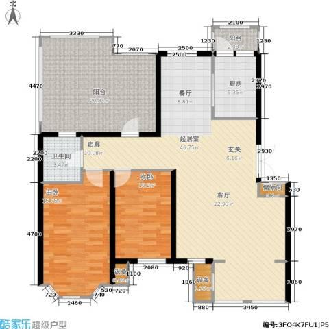 香格里拉2室0厅1卫1厨106.81㎡户型图