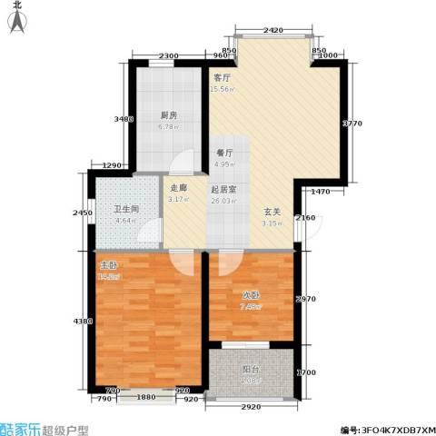 鑫苑城市之家2室0厅1卫1厨69.00㎡户型图