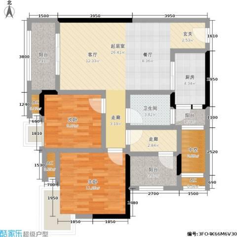 中房千寻2室0厅1卫1厨82.00㎡户型图