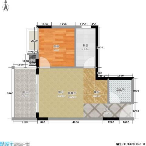 心巢宜家1室1厅1卫1厨40.10㎡户型图