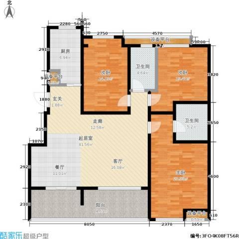 中齐他山3室0厅2卫1厨140.00㎡户型图