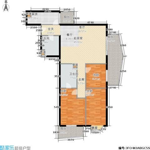 景泰嘉园3室0厅2卫1厨150.00㎡户型图