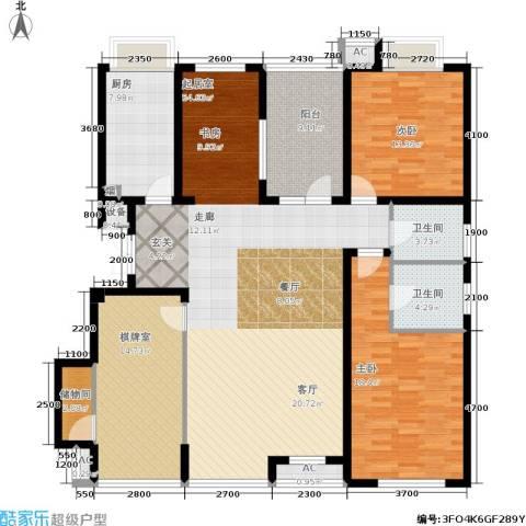 万科城峰汇2室0厅2卫1厨153.00㎡户型图