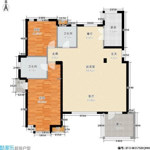 六宅臻品2室0厅2卫1厨134.00㎡户型图