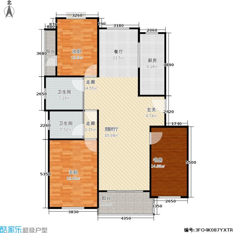 青山绿庭户型3室1厅2卫1厨