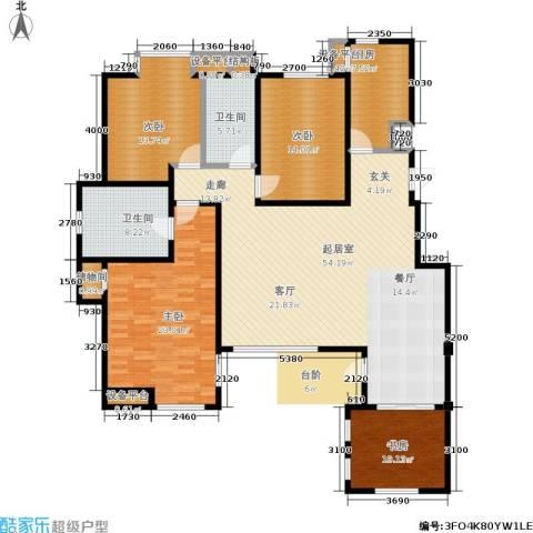 中齐他山4室0厅2卫1厨156.00㎡户型图