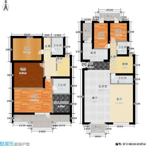 新奥洋房5室0厅4卫0厨235.00㎡户型图