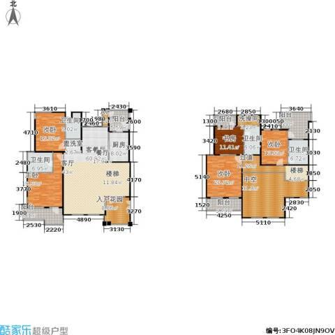 伊顿国际5室1厅4卫1厨281.30㎡户型图