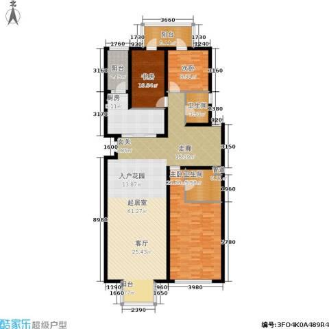 新奥洋房3室0厅2卫1厨148.00㎡户型图