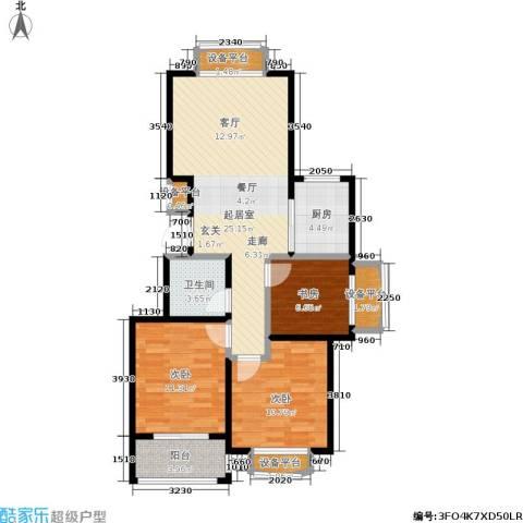 假日丽景3室0厅1卫1厨102.00㎡户型图