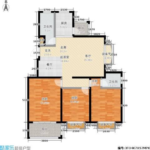 假日丽景3室0厅2卫1厨147.00㎡户型图