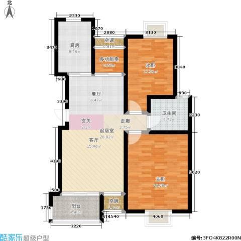 新港名尚花园2室0厅1卫1厨115.00㎡户型图
