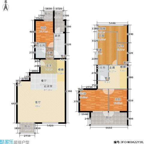 新奥洋房3室0厅2卫1厨222.18㎡户型图