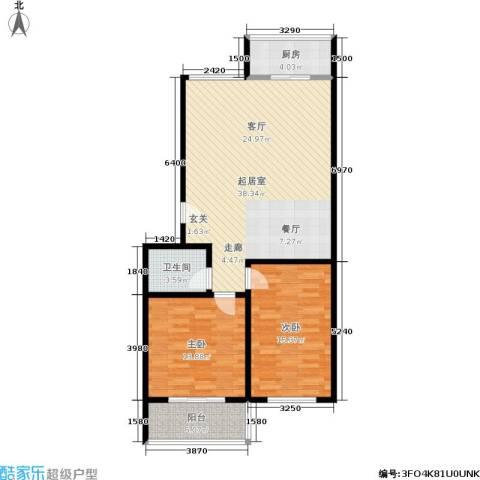 天长嘉园2室0厅1卫1厨89.00㎡户型图
