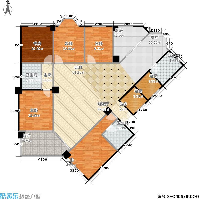 黄金豪园233.65㎡房型: 五房; 面积段: 233.65 -233.65 平方米; 户型