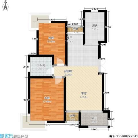 新港名尚花园2室0厅1卫1厨116.00㎡户型图