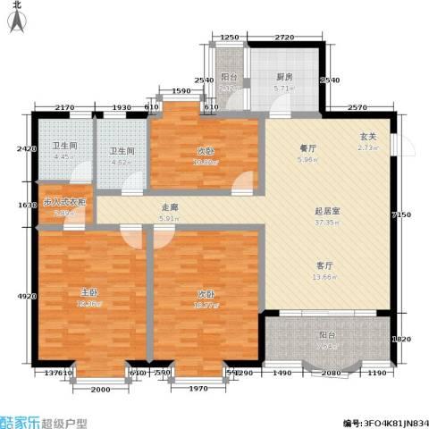 馨福花园3室0厅2卫1厨162.00㎡户型图