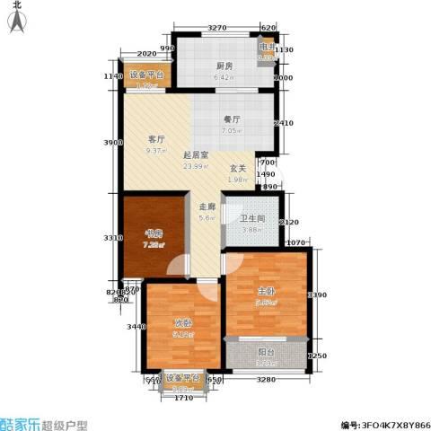 假日丽景3室0厅1卫1厨96.00㎡户型图