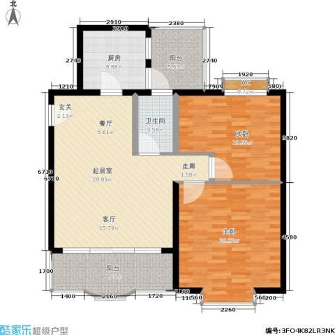 馨福花园2室0厅1卫1厨125.00㎡户型图