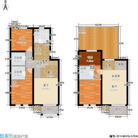 欧逸丽庭3室0厅3卫1厨170.00㎡户型图