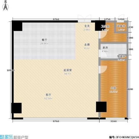 华府天地1室0厅1卫1厨128.16㎡户型图