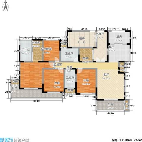 新港天都花园3室0厅3卫1厨190.00㎡户型图