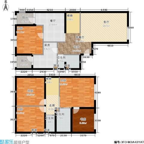 新奥洋房5室1厅3卫1厨176.00㎡户型图