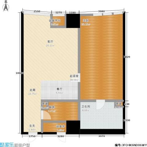 华府天地1室0厅1卫1厨91.00㎡户型图