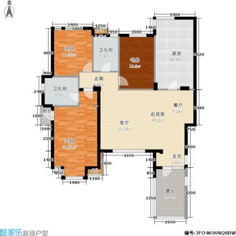 六宅臻品3室0厅2卫1厨147.00㎡户型图