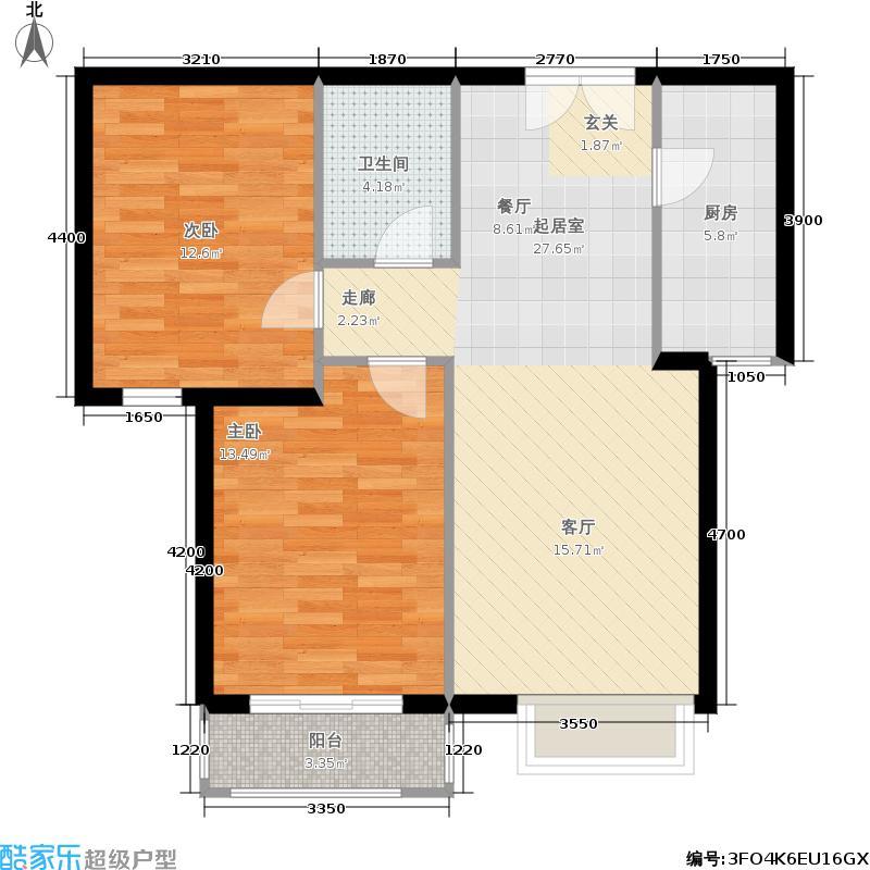银丰花园银丰花园户型图B2户型(3/14张)户型2室2厅1卫