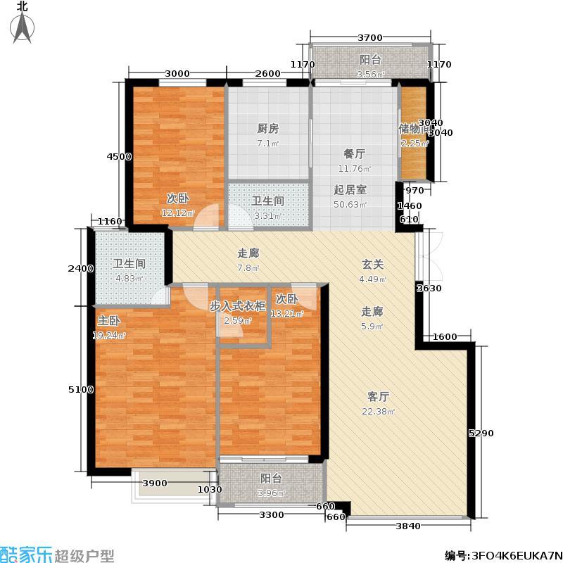 银丰花园银丰花园户型图三室170㎡(11/31张)户型3室2厅2卫