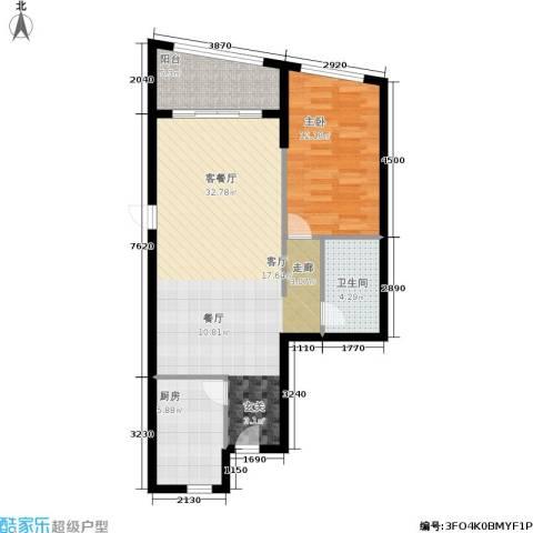 汇展香格里拉1室1厅1卫1厨85.00㎡户型图