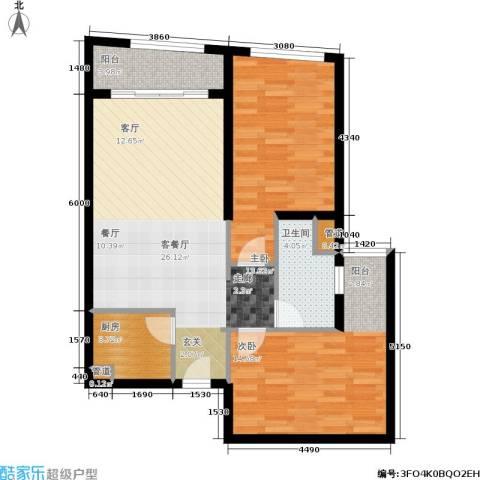 汇展香格里拉2室1厅1卫1厨95.00㎡户型图