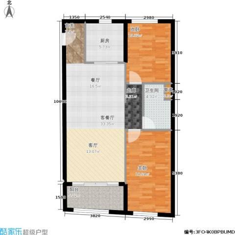 汇展香格里拉2室1厅1卫1厨103.00㎡户型图