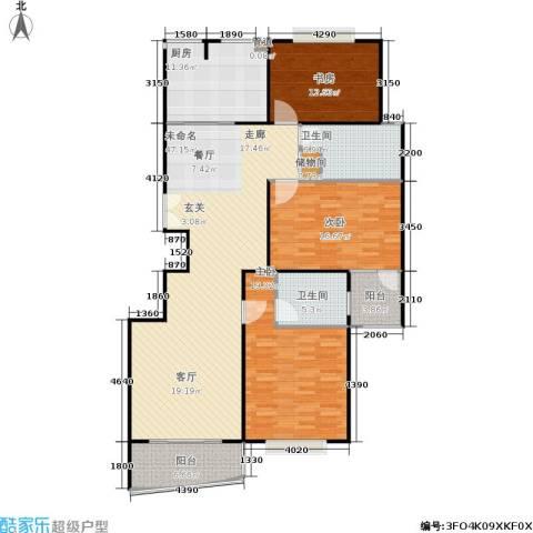 虹桥逸品3室0厅2卫1厨140.00㎡户型图