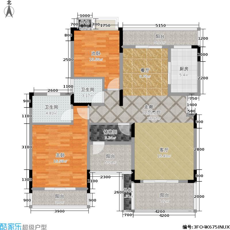 奥园国际城123.00㎡奥园国际城墅院B4户型3室2厅2卫