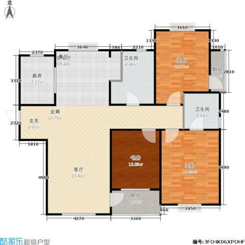 青山绿庭3室1厅2卫1厨174.00㎡户型图