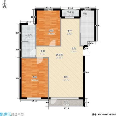 新华佰代宜居2室0厅2卫1厨98.00㎡户型图