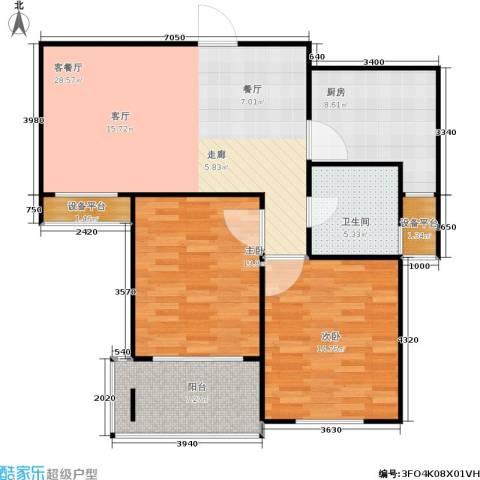 青山绿庭2室1厅1卫1厨109.00㎡户型图