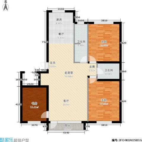 新华佰代宜居3室0厅2卫0厨122.00㎡户型图
