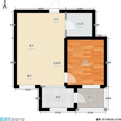 新华佰代宜居1室0厅1卫1厨61.00㎡户型图