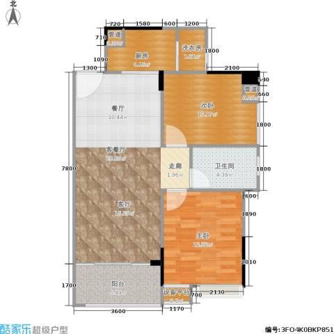 秋实大厦2室1厅1卫1厨92.00㎡户型图