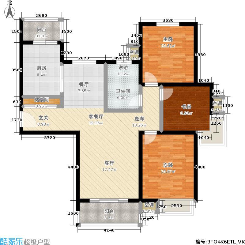 湖山新意117.00㎡湖山新意户型图B5户型(1/5张)户型3室2厅1卫