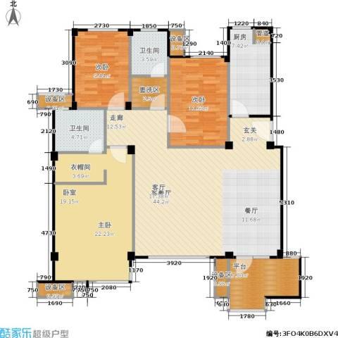 万科・深蓝3室1厅2卫1厨159.00㎡户型图