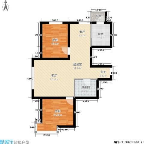 新华佰代宜居2室0厅1卫1厨90.00㎡户型图