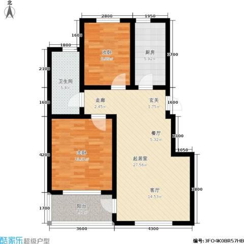 新华佰代宜居2室0厅1卫1厨95.00㎡户型图