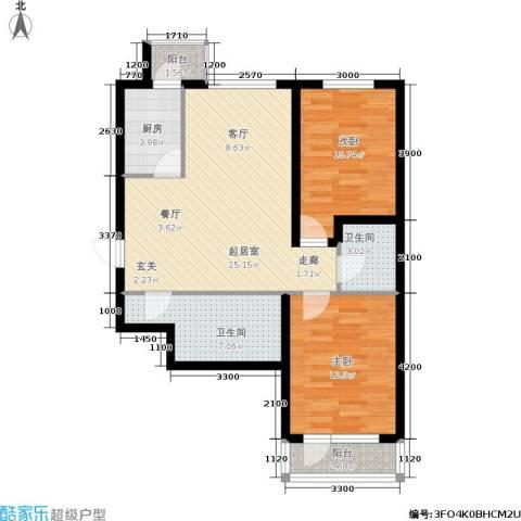 新华佰代宜居2室0厅2卫1厨95.00㎡户型图
